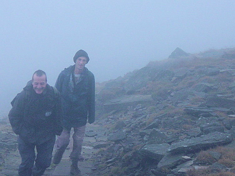 Into cloud on Ingleborough