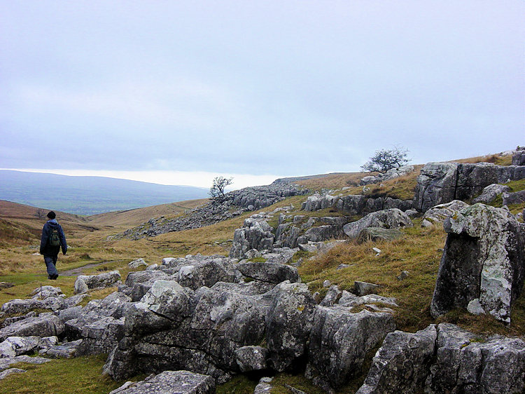 Descending from Ingleborough to Crina Bottom