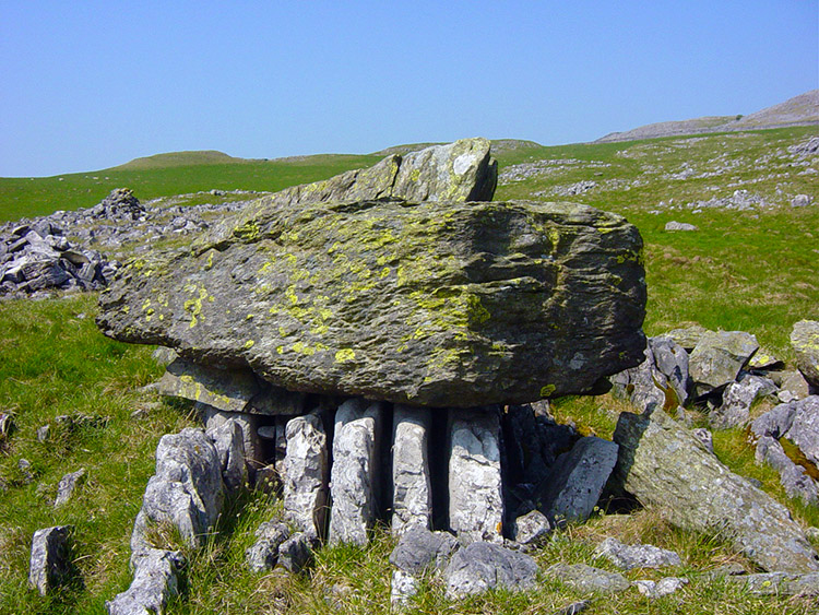 Older Silurian rock perched on younger limestone