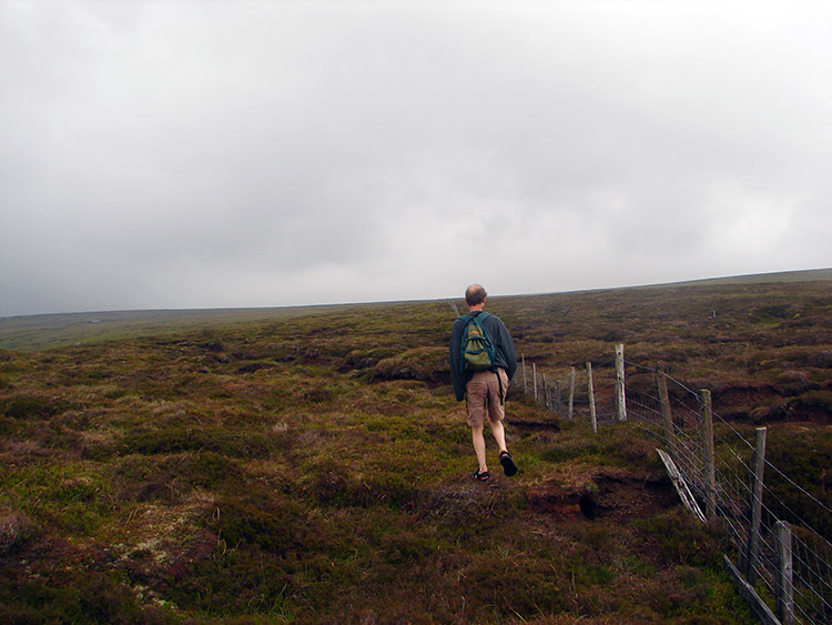 Dave trudges across the moor