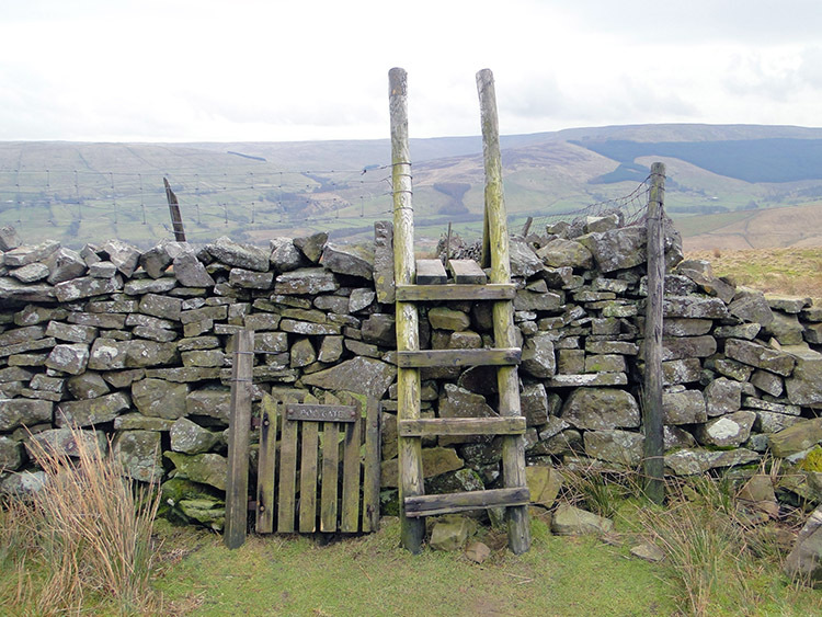 A typical Dales Stile. Can you see the Dog Gate?