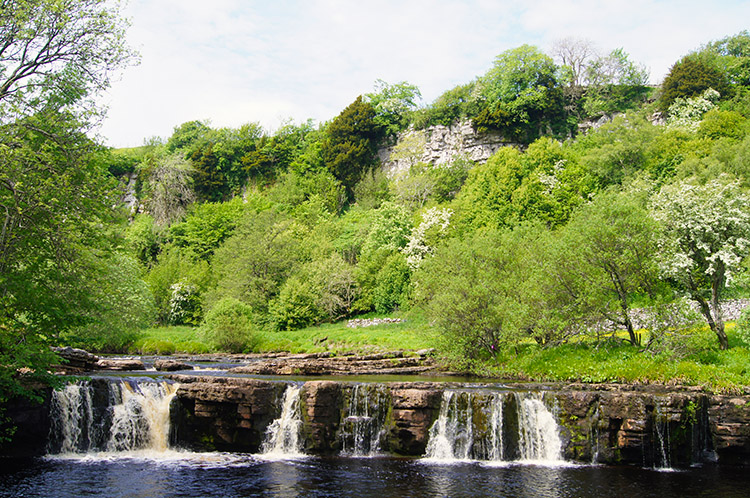 The waterfall beside Cotterby Scar is beyond Park Bridge