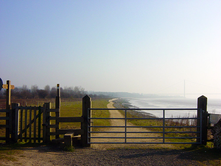 Leaving the Humber near North Ferriby