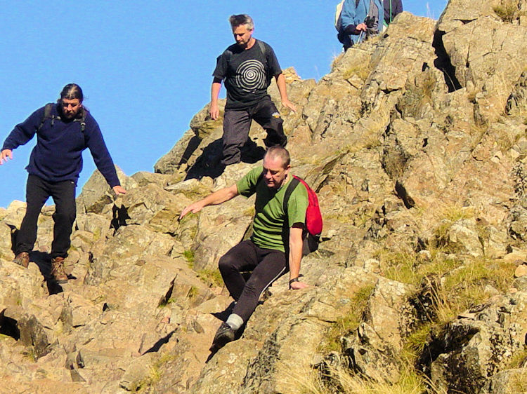 Scrambling on the Corridor Route to Scafell Pike