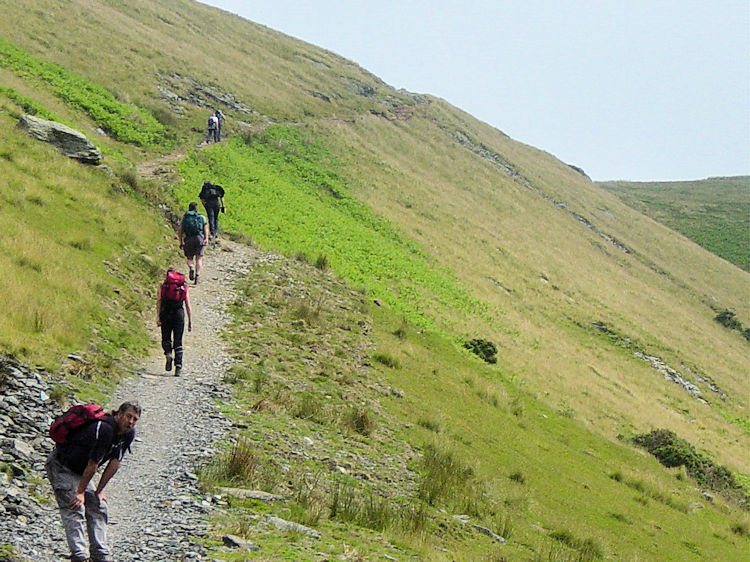 Approaching the lower part of Sharp Edge