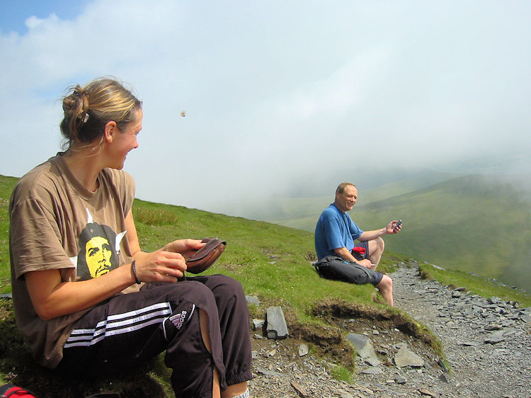 Taking a breather after scrambling Foule Crag