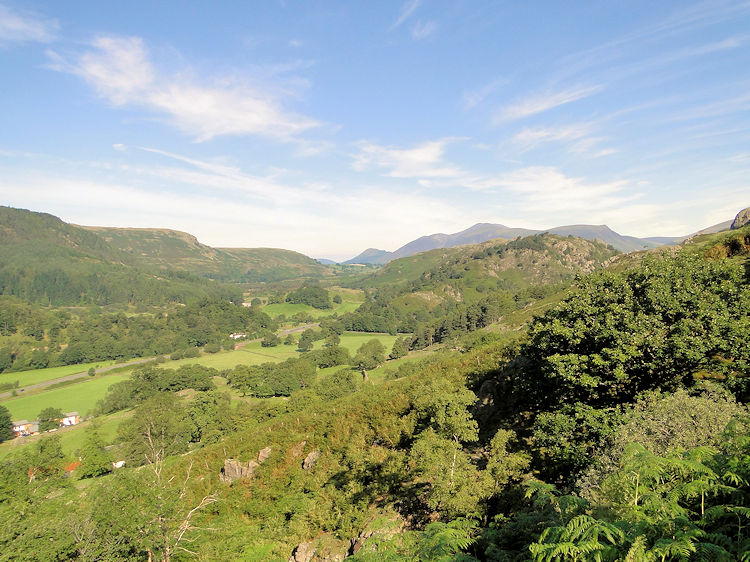 The view towards Keswick from above Legburnthwaite