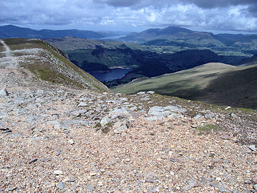 Thirlmere and Derwent Water from Helvellyn