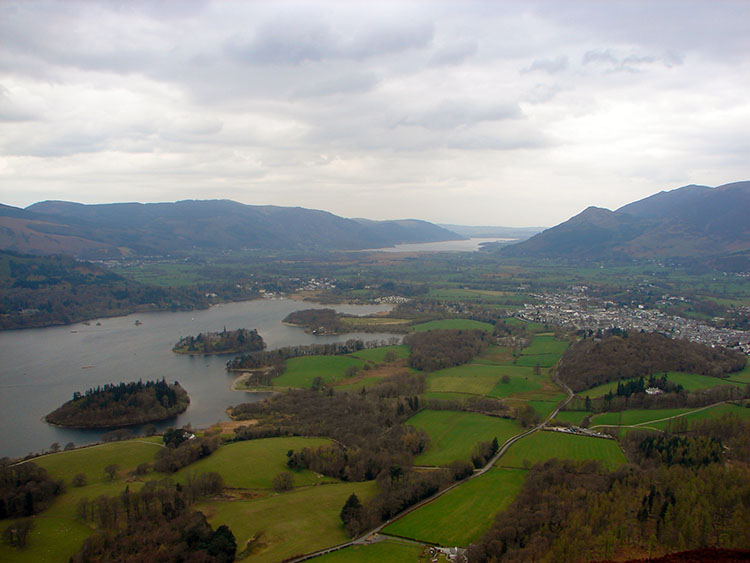The view from Walla Crag