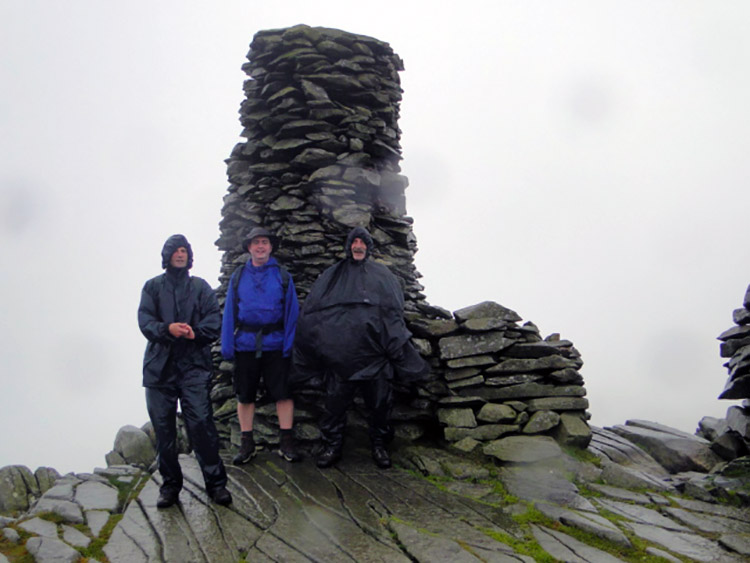 Drenched at the Beacon on Thornthwaite Crag