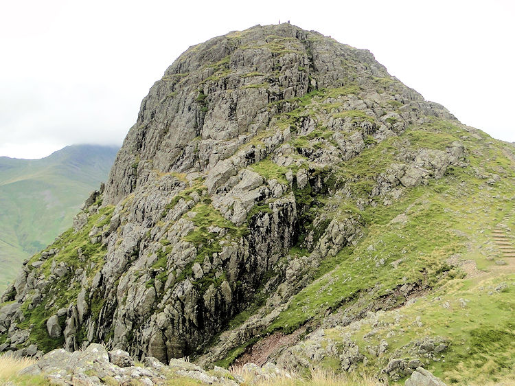 As you look from Harison Stickle then Scafell Pike is directly beyond Pike Of Stickle