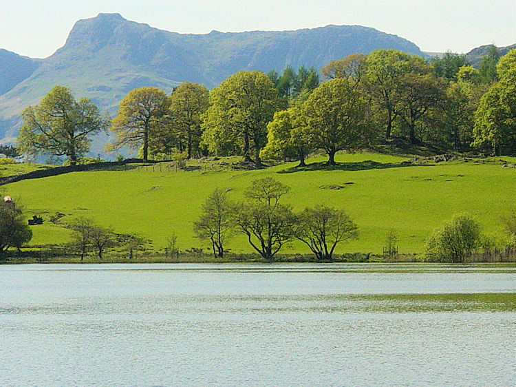 Langdale Pikes and Loughrigg Tarn