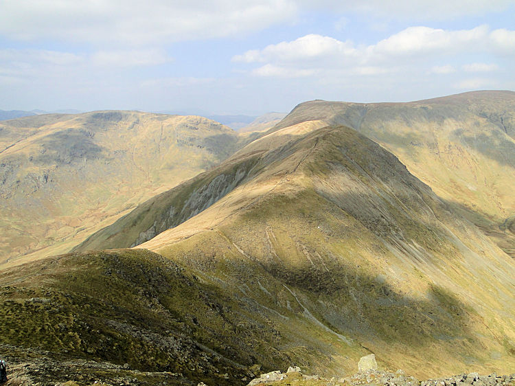 The ridge from Ill Bell toward Frostwick