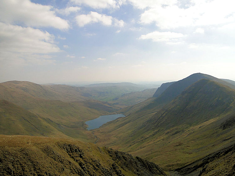 Looking toward Kentmere Reservoir from High Street