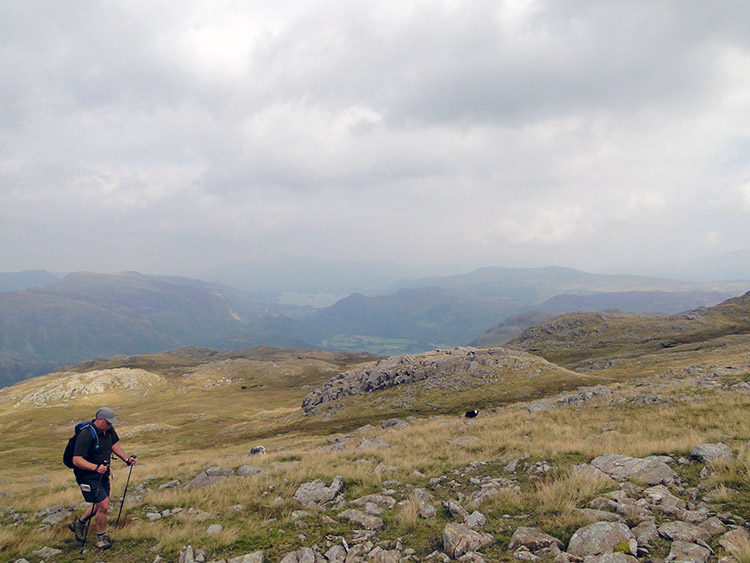 Tim Nobes walks to the summit of Glaramara