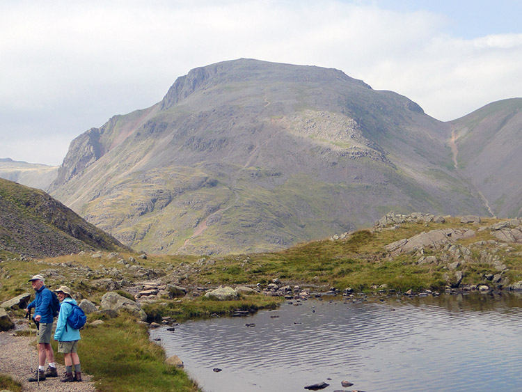 Sprinkling Tarn and Great Gable in the distance