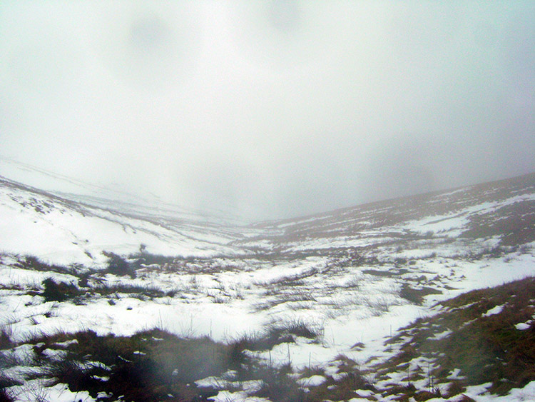 The whiteout gloom of Mungrisdale Common