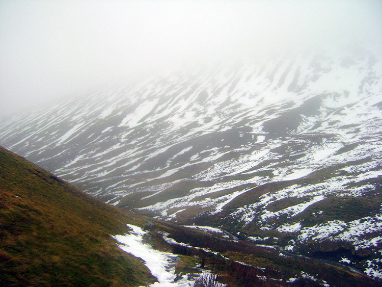 Still in cloud on the descent to Mungrisdale