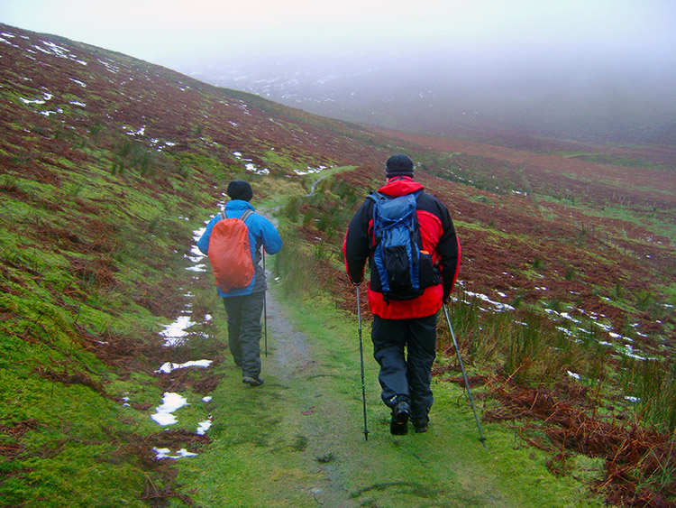 John Lister and Tim Nobes head back to Mungrisdale
