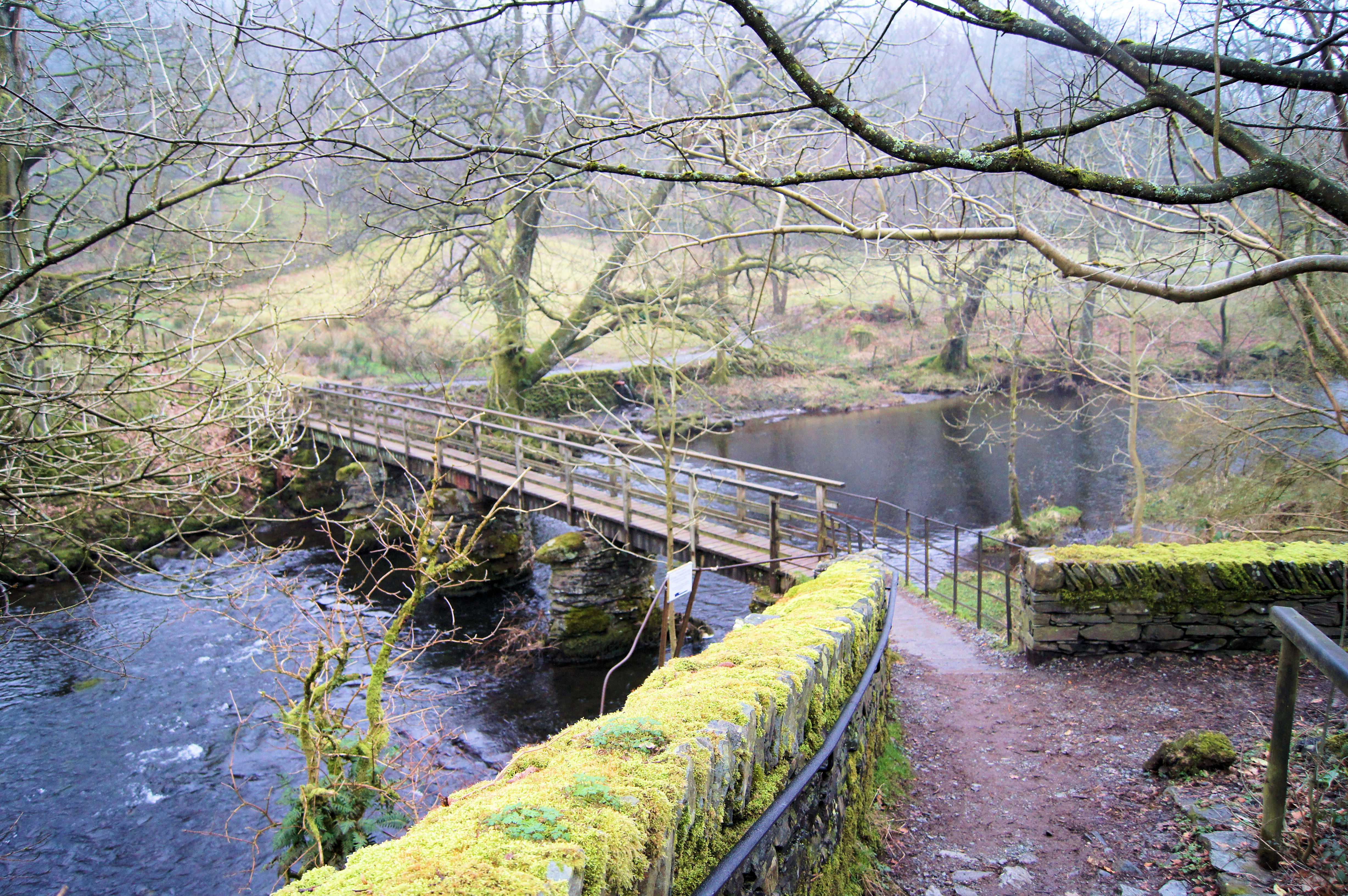 Footbridge over the River Rothay at Rydal