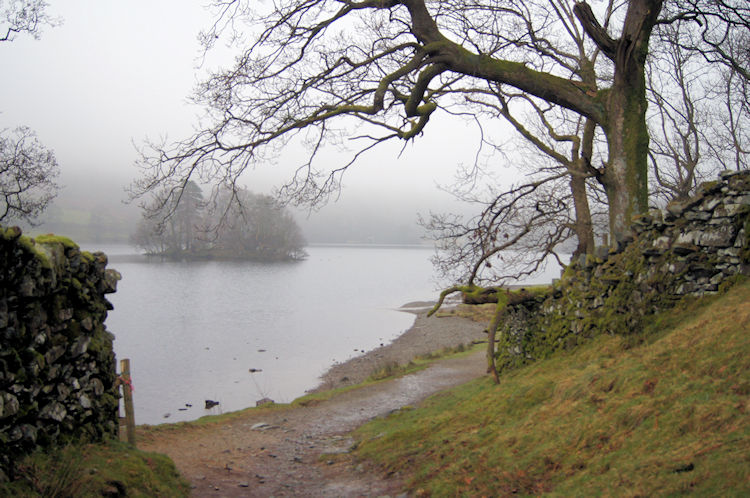 Lakeside path beside Rydal Water