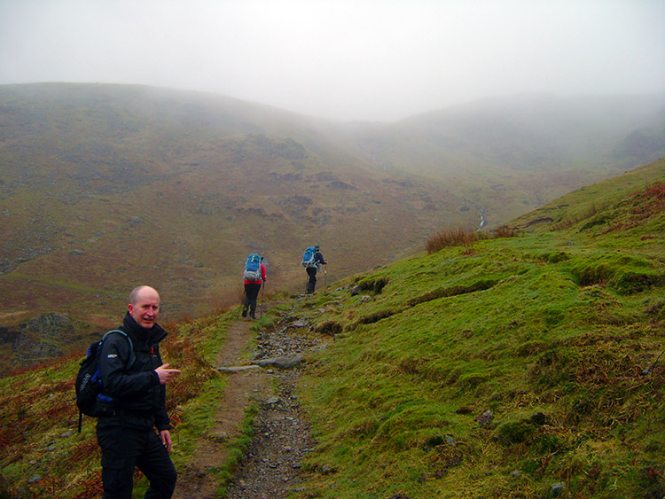 Climbing to Nethermost Pike at Birk Side