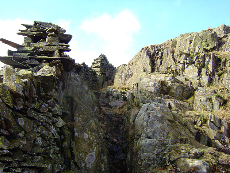 Stone natural and man shaped at High Brock Crags