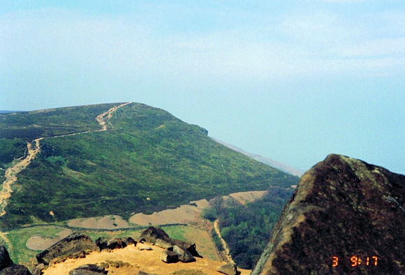 The Cleveland Way as seen from Wainstones