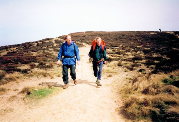 Dave and I crossing Carlton Moor