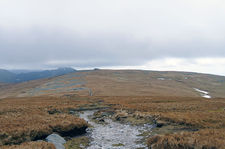 Crossing high ground from Foel-fras to Carnedd Gwenllian