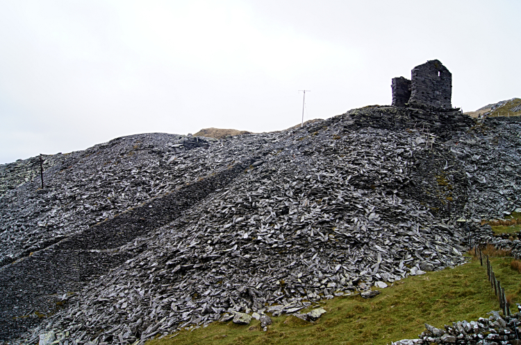 Disused slate quarry at Foel Ddu