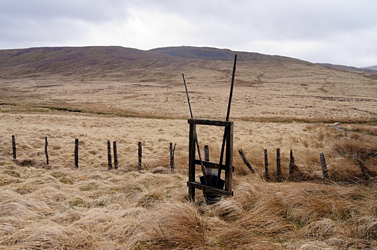 Fire beating equipment on the moor