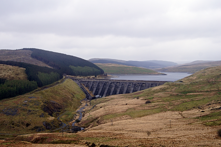 The Dam of Nant-y-Moch Reservoir