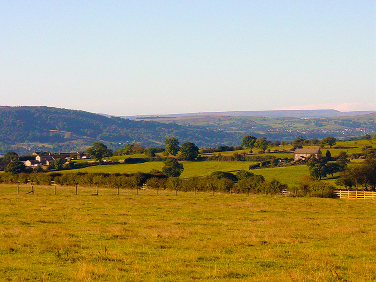 The view from near Braythorn towards the Chevin