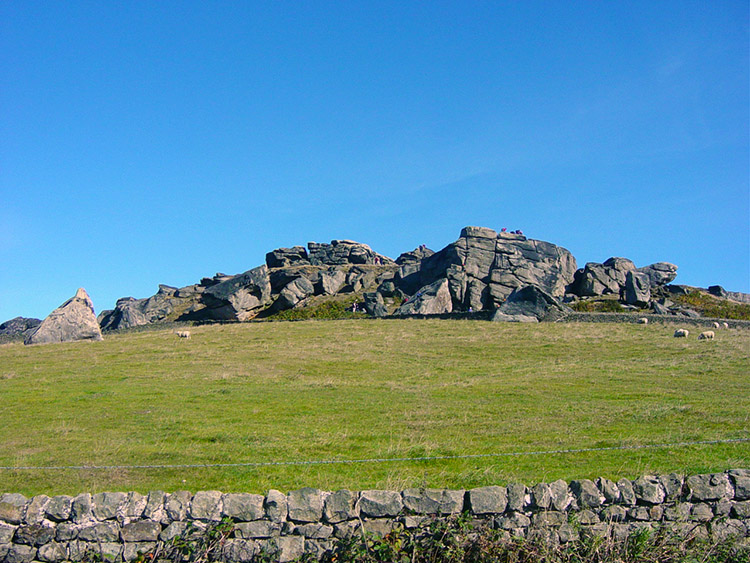 Almscliff Crag as seen from the North Rigton road