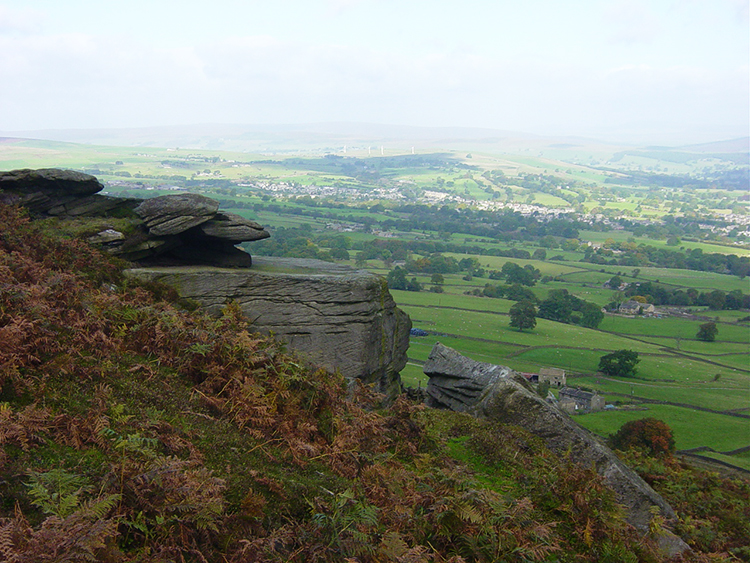 View of Wharfedale from Ilkley Moor