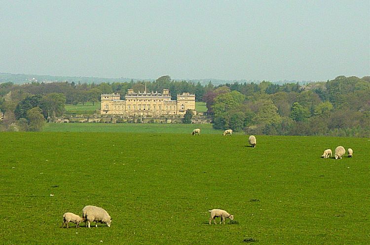 Harewood House seen from Cote Hill