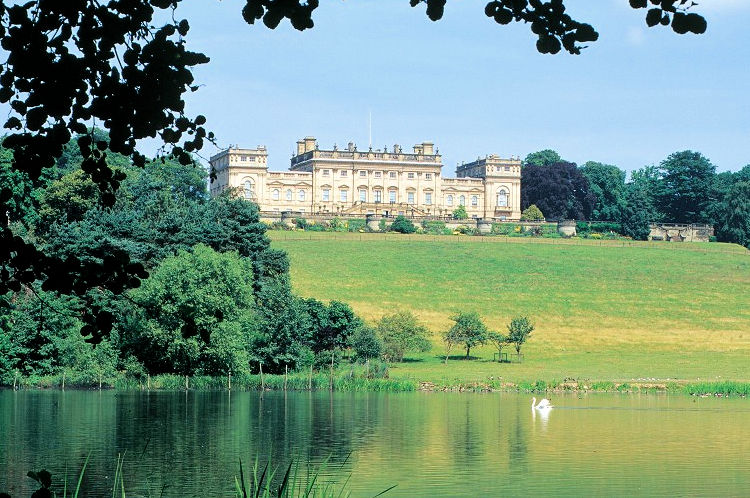 Harewood House and the Fish Pond