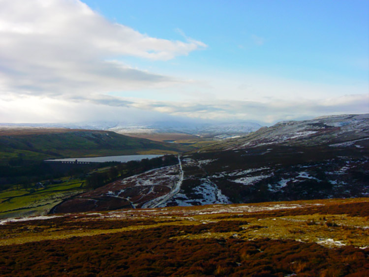 View to Scar House Reservoir from Woogill Moor
