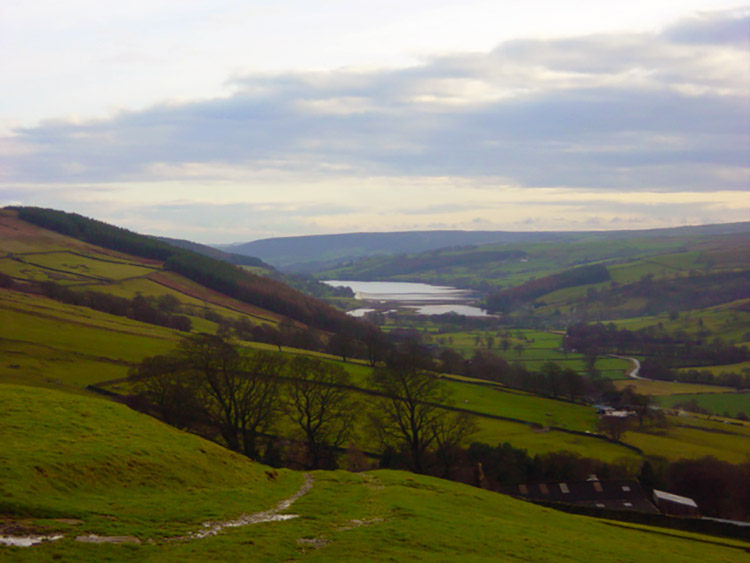 View to Gouthwaite Reservoir from Thrope Edge