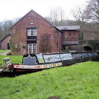 Froghall Wharf and trip boat Birdswood