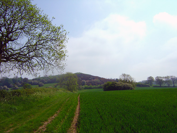 Approaching Burrough Hill