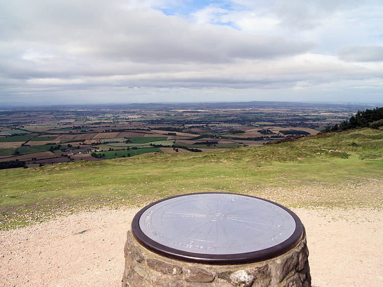 The view north from the summit of the Wrekin