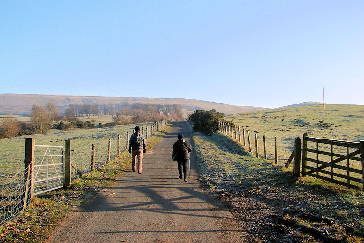 Following the Pennine Way from Dufton