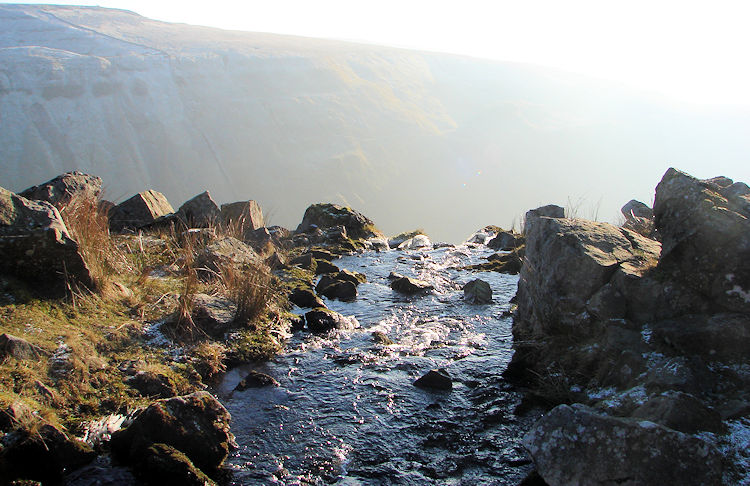Water flows into High Cup Gill at Hannah's Well