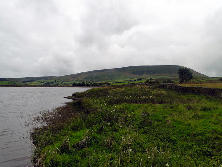 Pendle Hill as seen from Lower Black Moss Reservoir