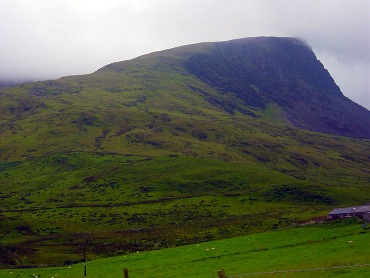 Y Garn as seen from the east near Rhyd-Ddu