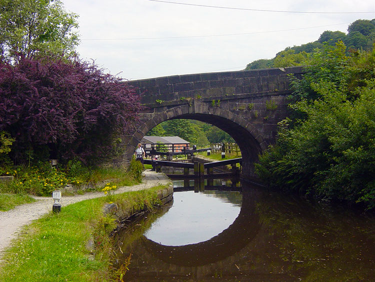 Old bridge over the Rochdale Canal