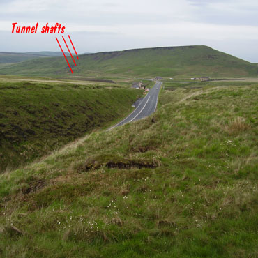 Summit cutting of A62 and tunnel air shafts