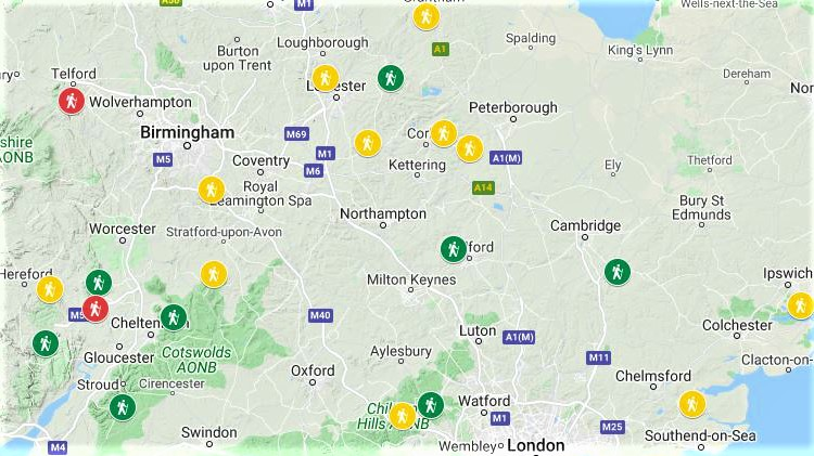 Map Of Uk Hills And Mountains.Walking Englishman The Independent Free Resource Website For